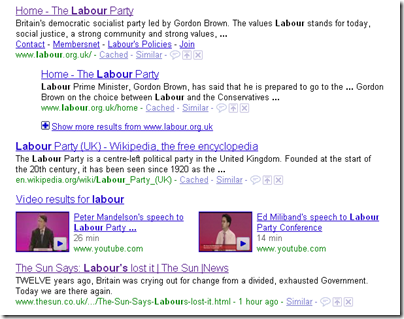 "Search returns for ""labour"""